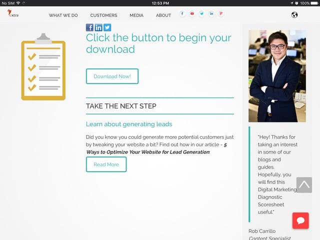 Thank You Page | Lead Generation | Digital Marketing