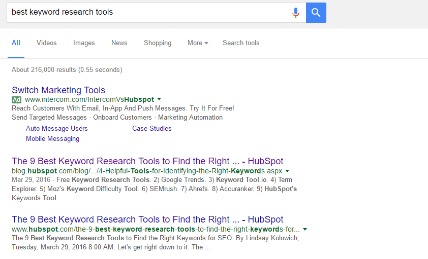 hubspot search results | SEO Basics