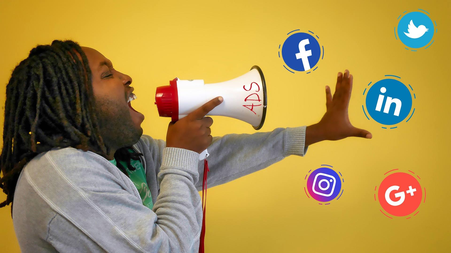 megaphone-man-social-ads
