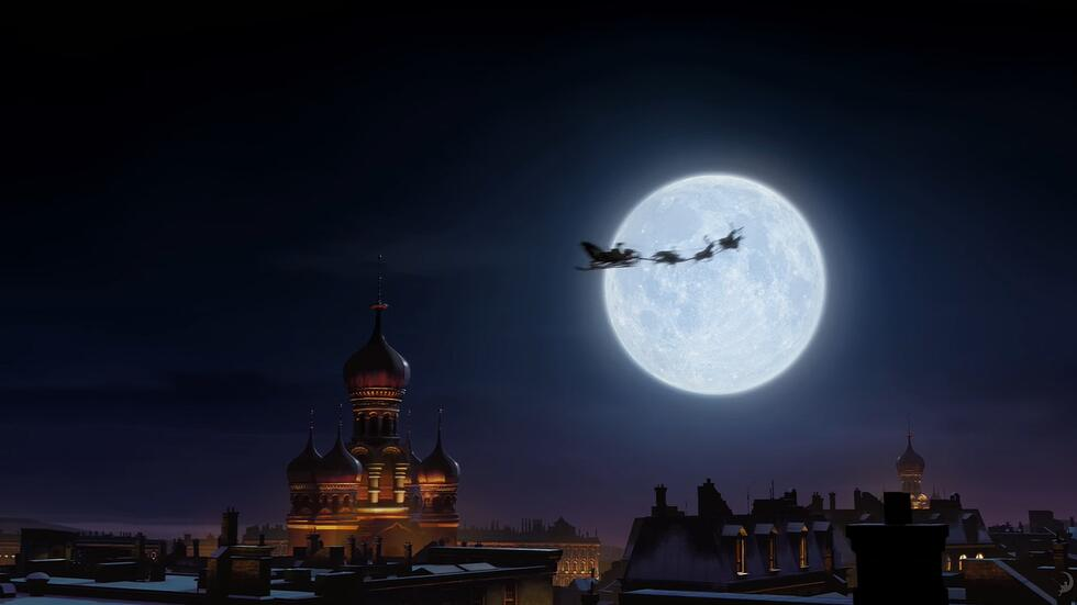 Rise of the guardians | Santa's sled | Accedere alla suite sul tetto di casa grazie al Cloud!