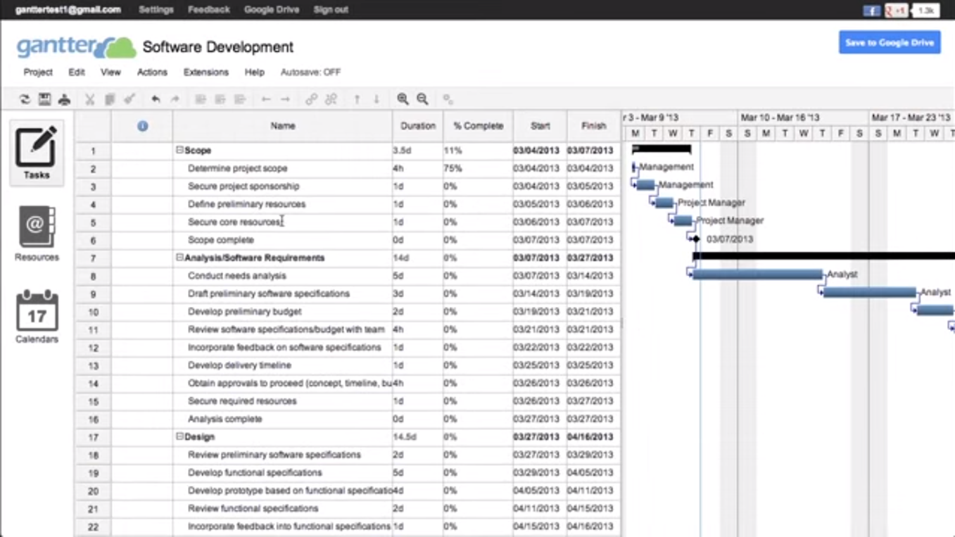 Continue using Gantt charts through web-based project management tools