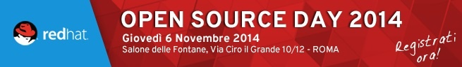 Extra è sponsor del Red Hat Open Source Day 2014: registrati e vieni a conoscerci!