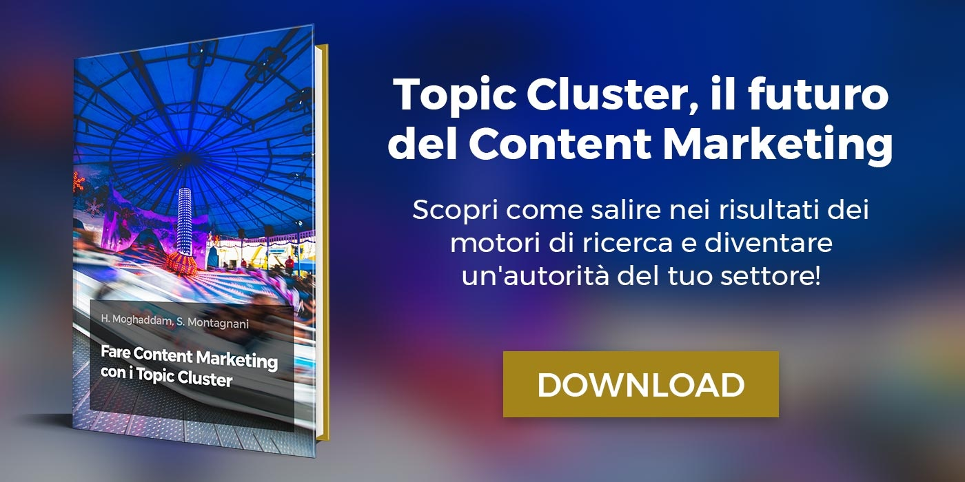 ebook fare content marketing con i topic cluster