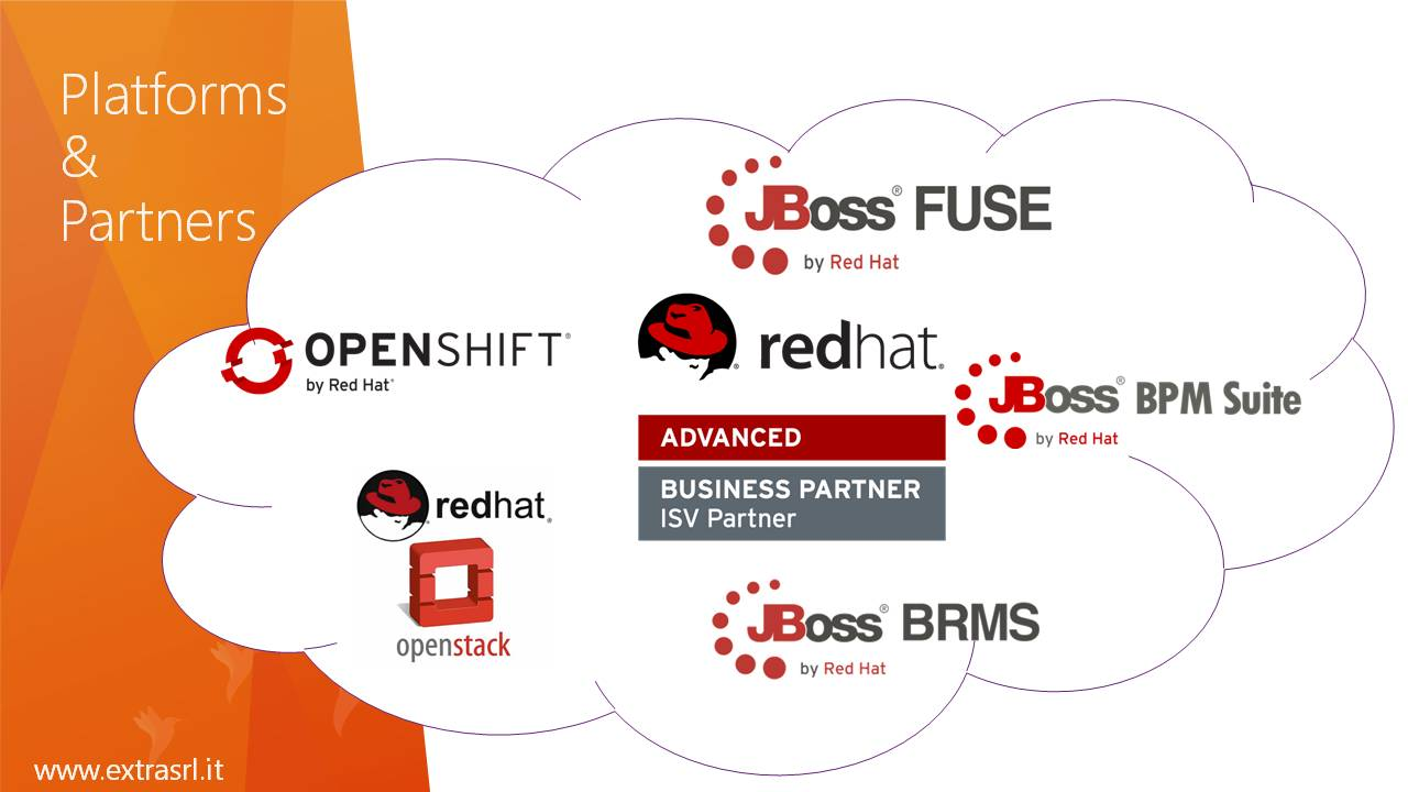 OpenShift, OpenStack, Red Hat Advanced Business Partner, Red Hat JBoss Fuse, JBoss BRMS, JBoss BPM Suite, jBPM