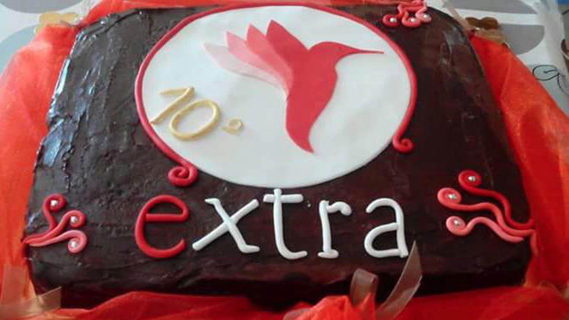 dolce per 10° aniversario di Extra